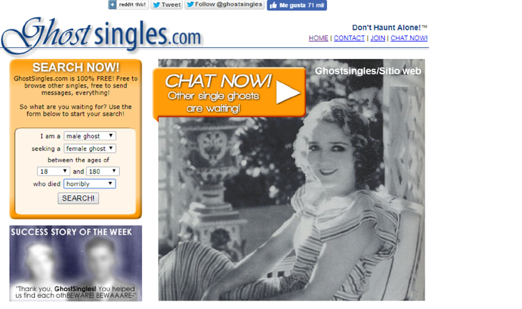 Crean un sitio web para tener citas con fantasmas